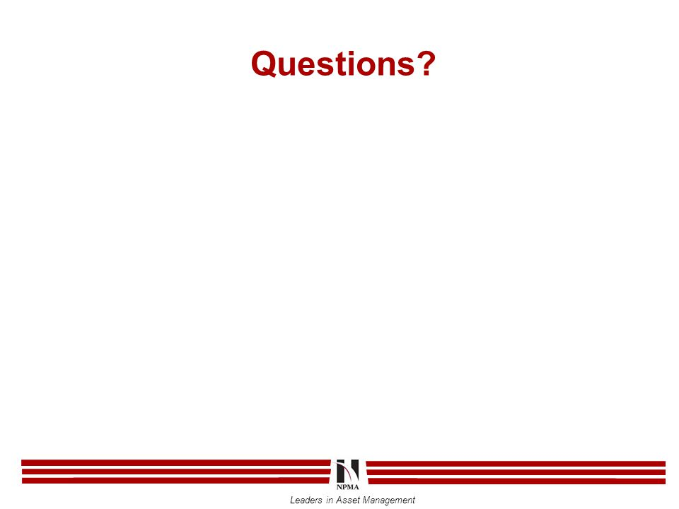 Leaders in Asset Management Questions