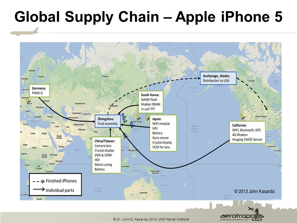 © Dr. John D. Kasarda, 2014, UNC Kenan Institute Global Supply Chain – Apple iPhone 5