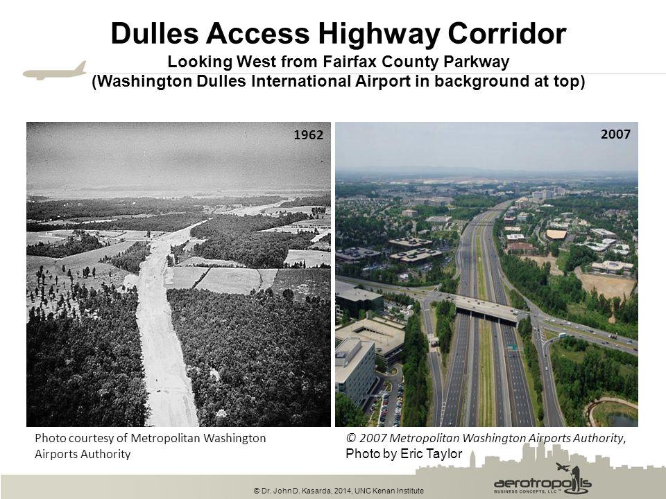 © Dr. John D. Kasarda, 2014, UNC Kenan Institute Dulles Access Highway Corridor Looking West from Fairfax County Parkway (Washington Dulles Internatio