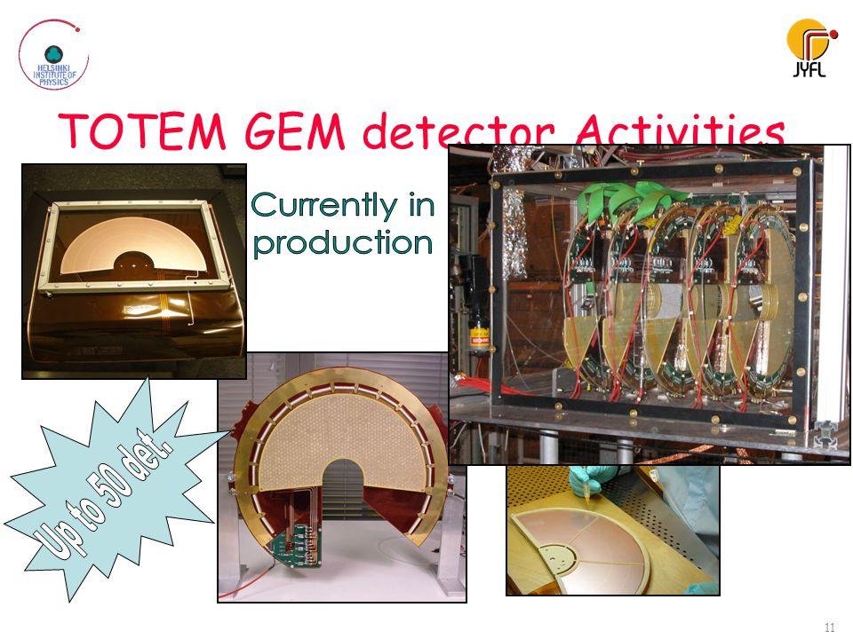 TOTEM GEM detector Activities 11