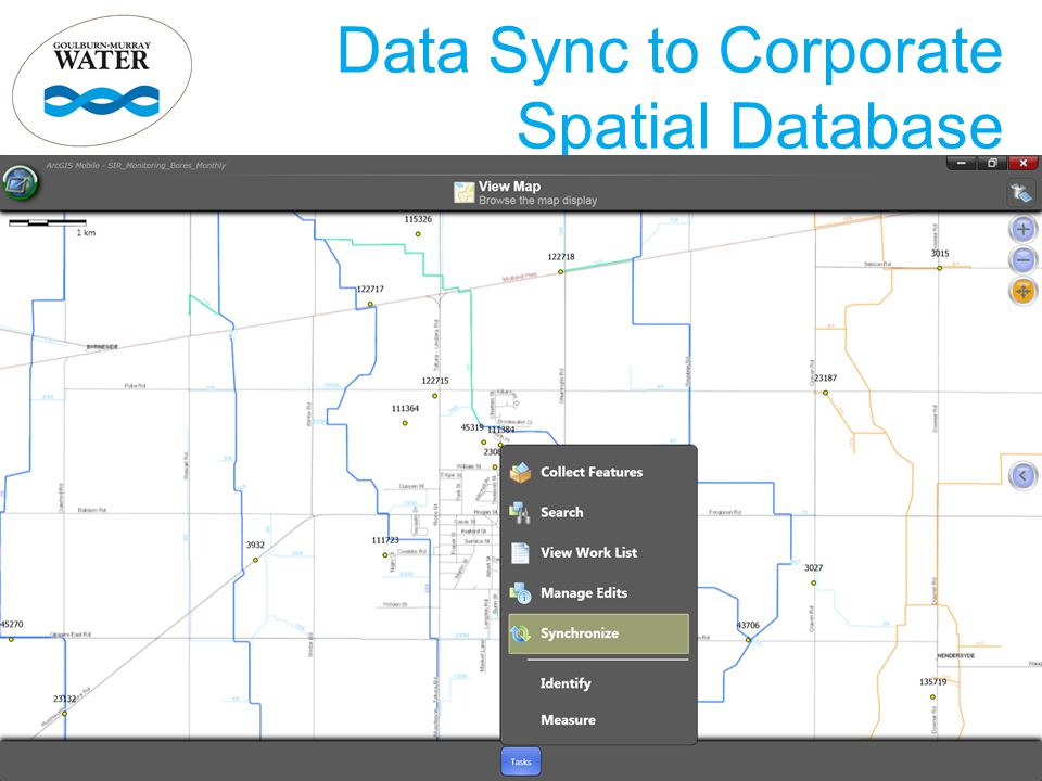 Data Sync to Corporate Spatial Database