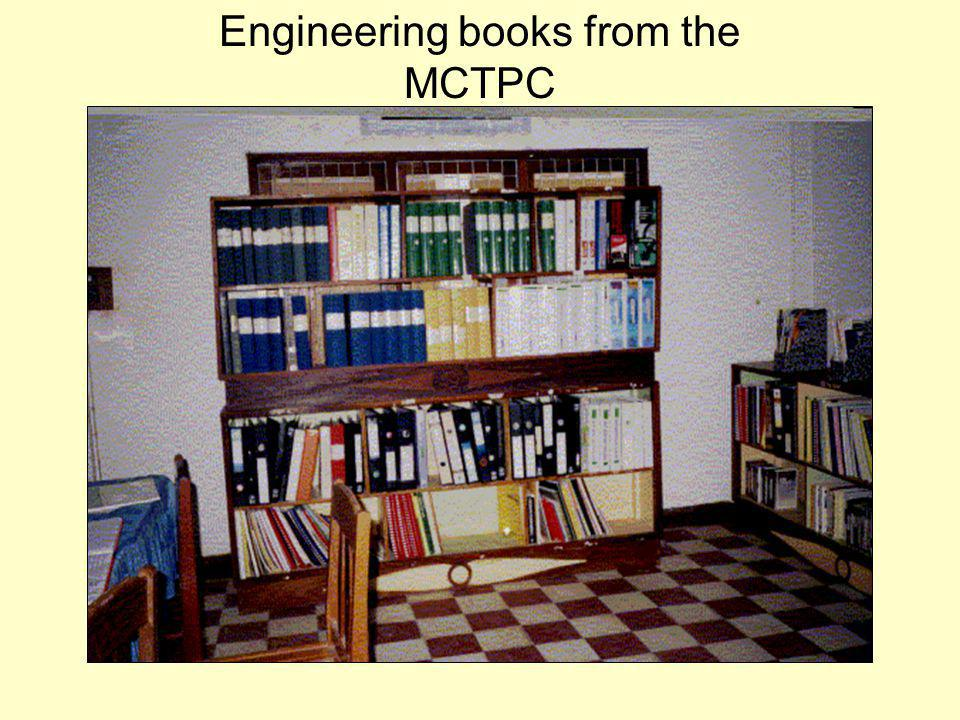 Engineering books from the MCTPC