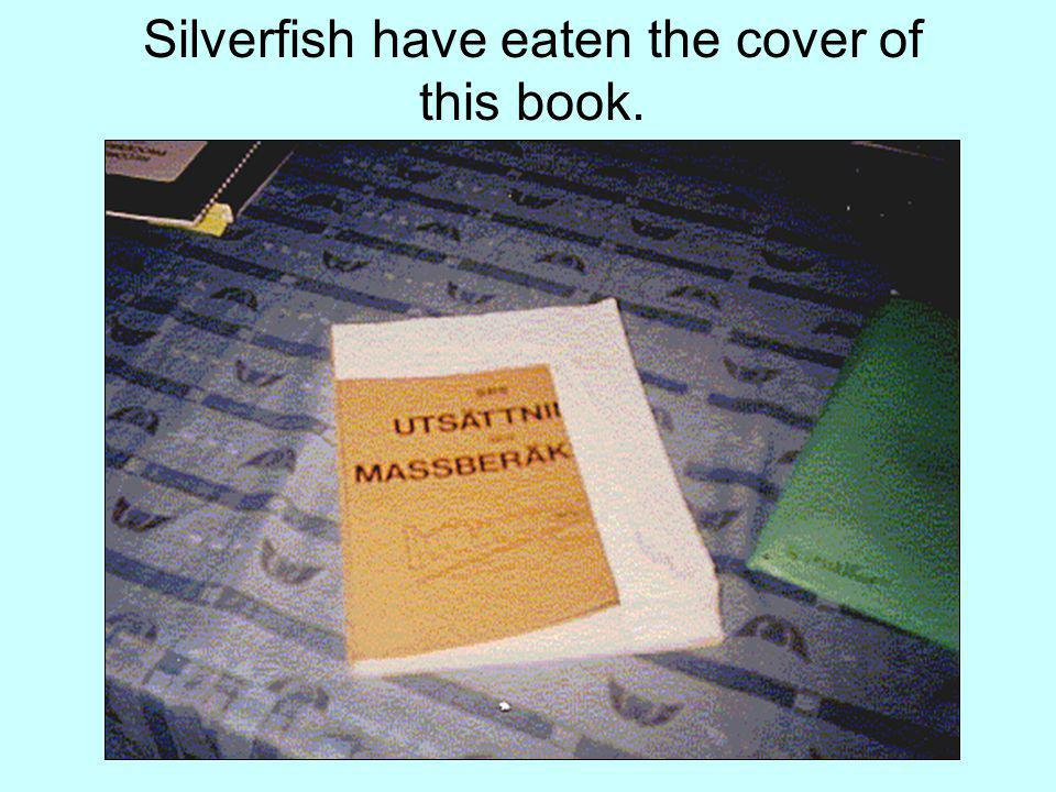 Silverfish have eaten the cover of this book.