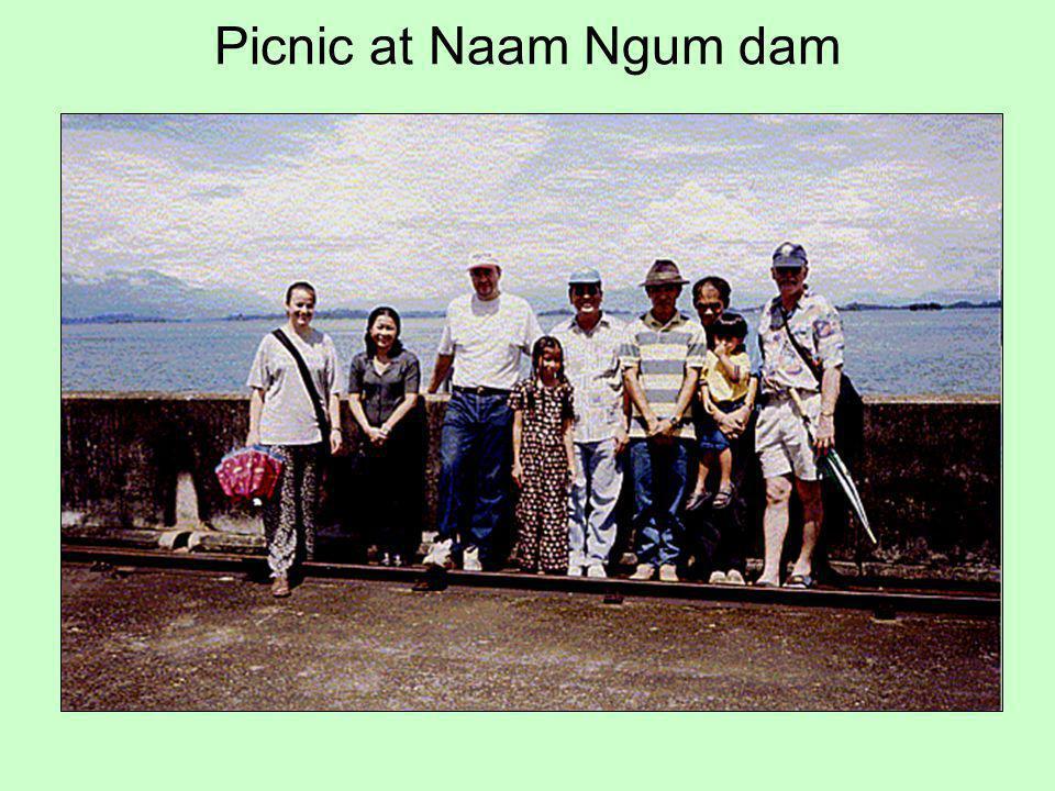 Picnic at Naam Ngum dam