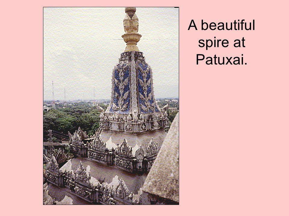 A beautiful spire at Patuxai.