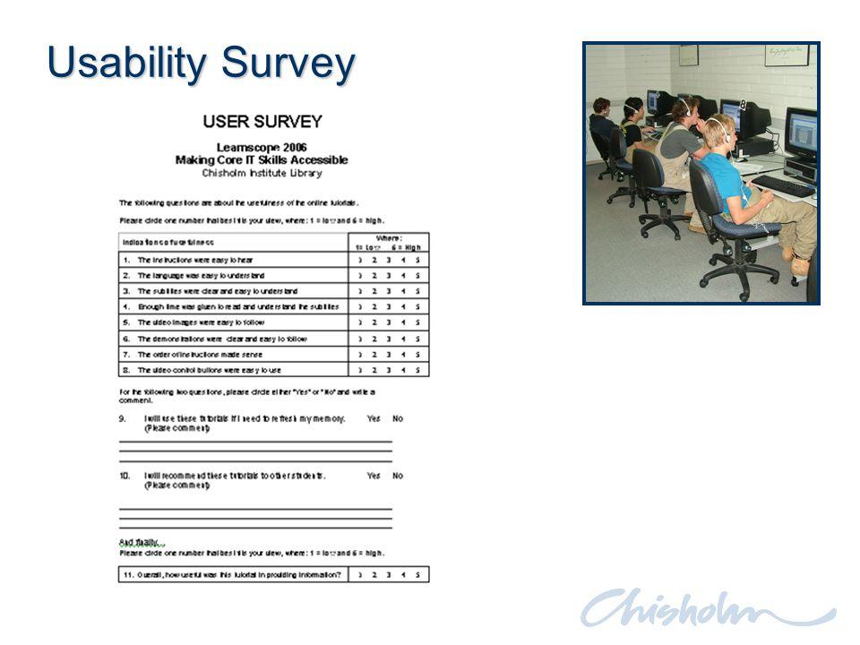 Usability Survey