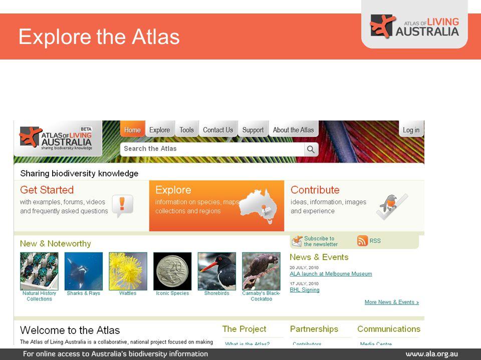 Explore the Atlas