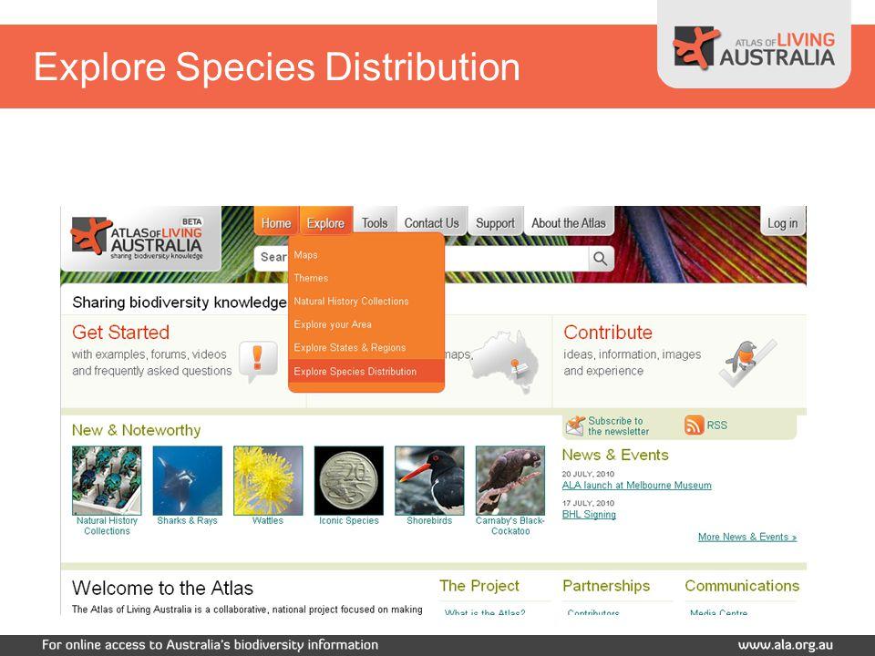 Explore Species Distribution