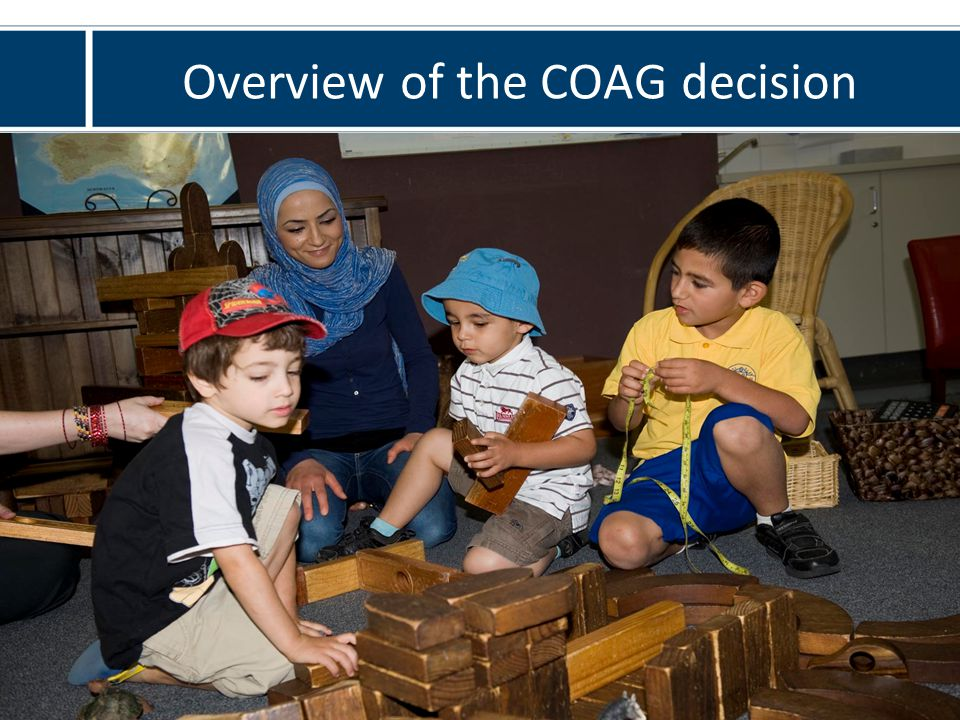Overview of the COAG decision