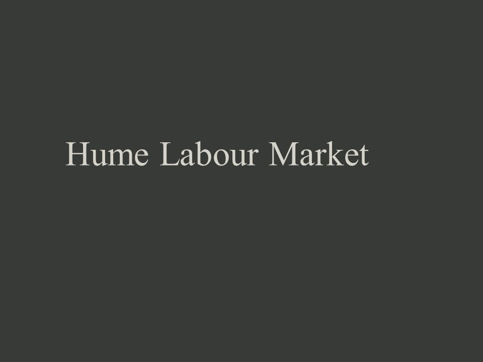 Hume Labour Market