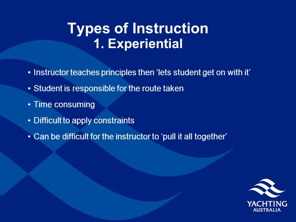 Types of Instruction 1.