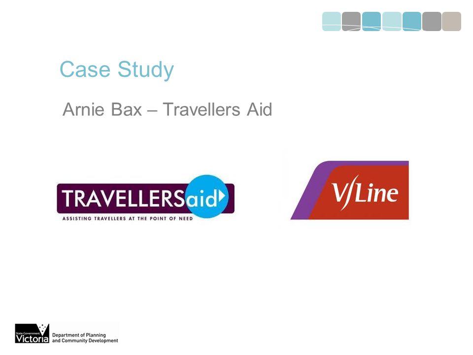 Case Study Arnie Bax – Travellers Aid