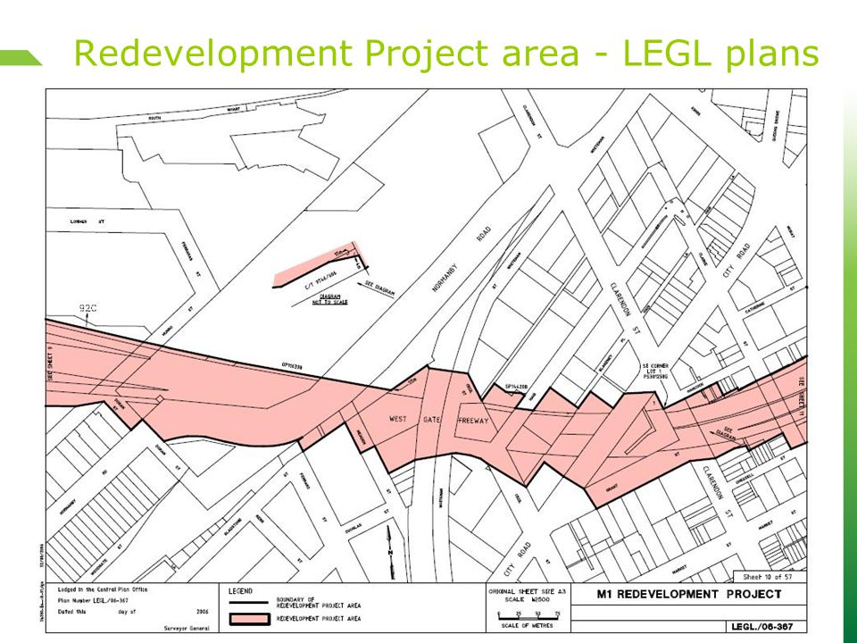 Redevelopment Project area - LEGL plans