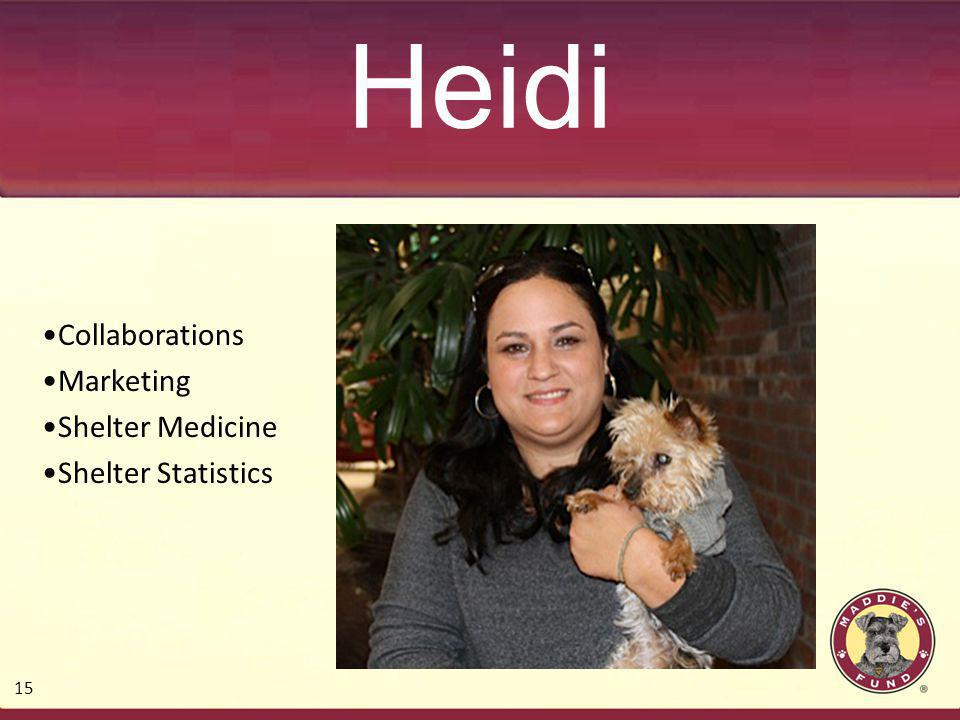 Heidi Collaborations Marketing Shelter Medicine Shelter Statistics 15