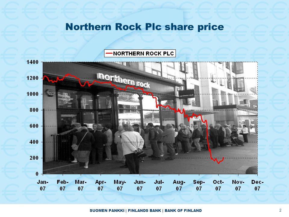 SUOMEN PANKKI   FINLANDS BANK   BANK OF FINLAND 2 Northern Rock Plc share price