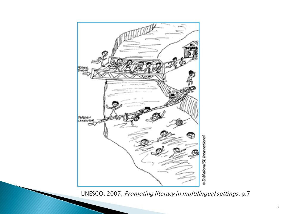 UNESCO, 2007, Promoting literacy in multilingual settings, p.7 3