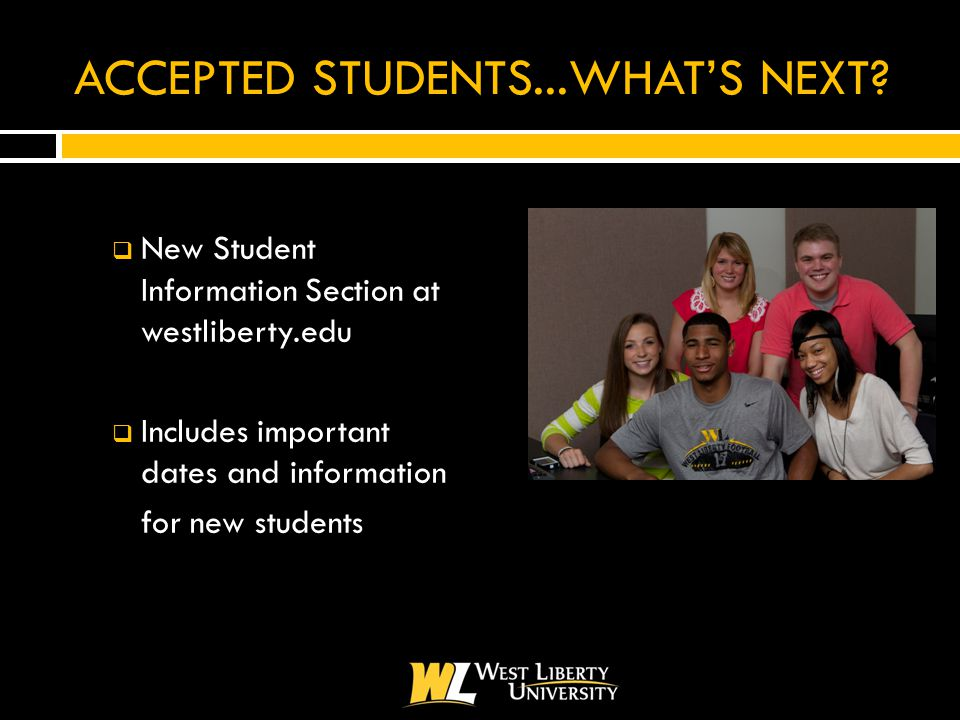 ACCEPTED STUDENTS...WHAT'S NEXT.