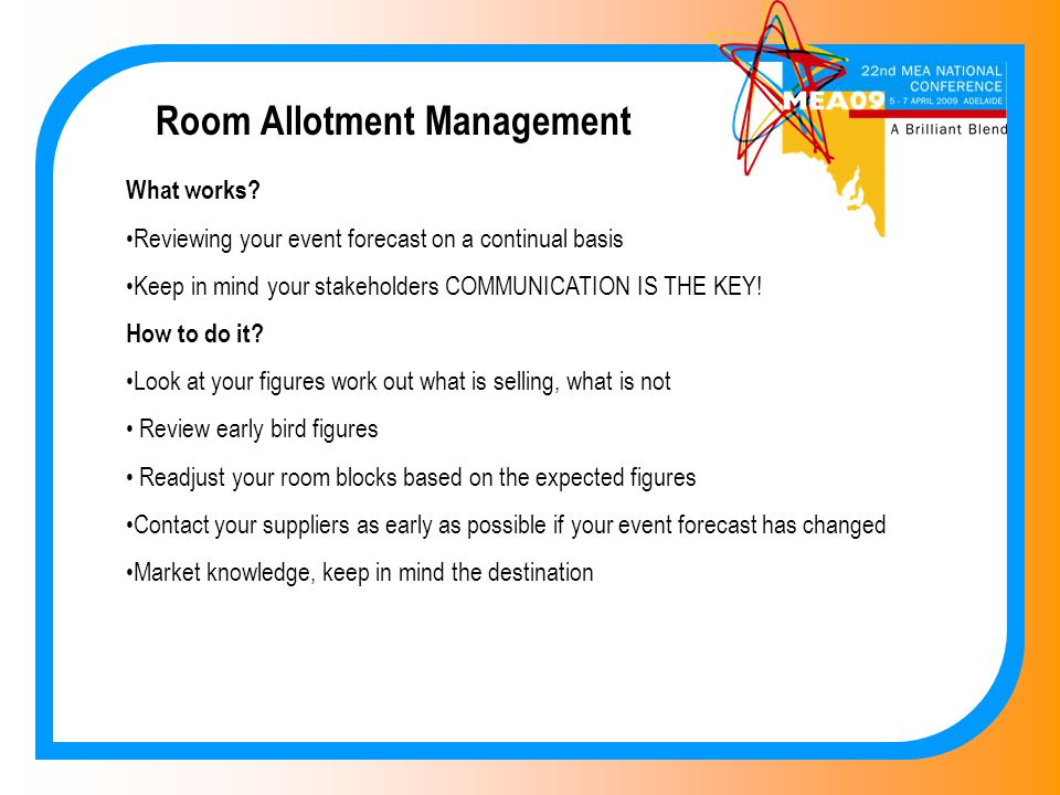 Room Allotment Management What works.