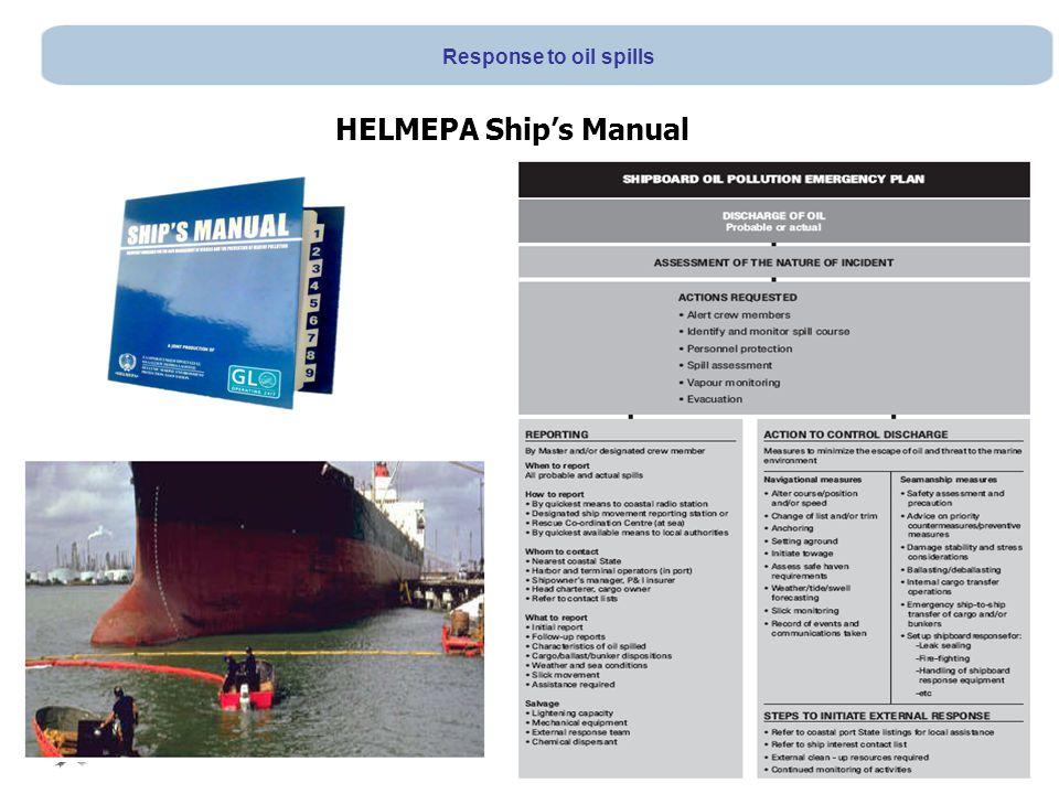 HELMEPA Ship's Manual Response to oil spills