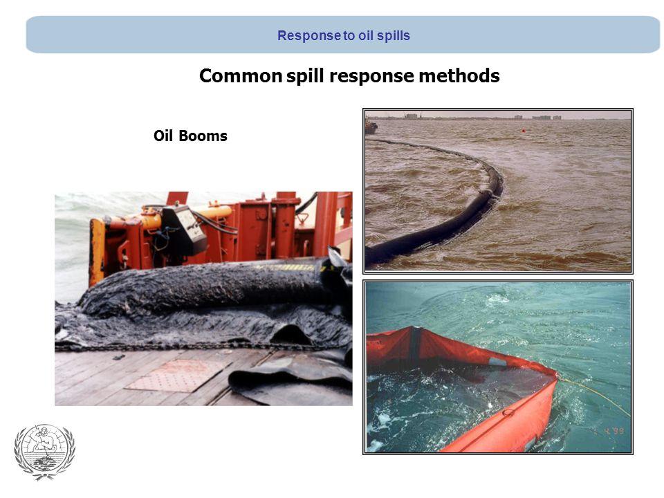 Oil Booms Common spill response methods Response to oil spills