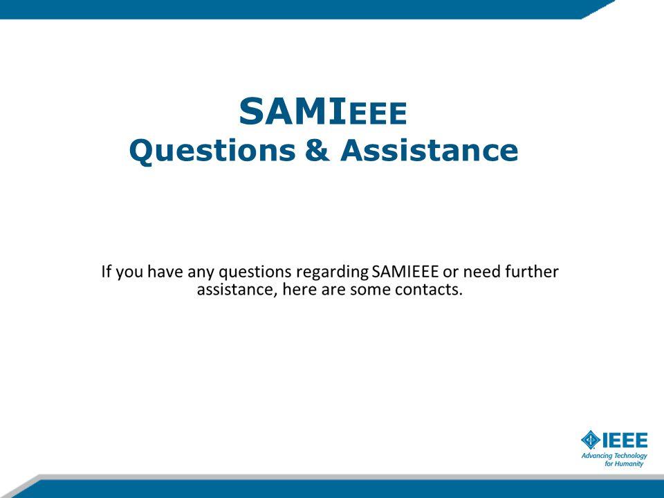 SAMI EEE Questions & Assistance