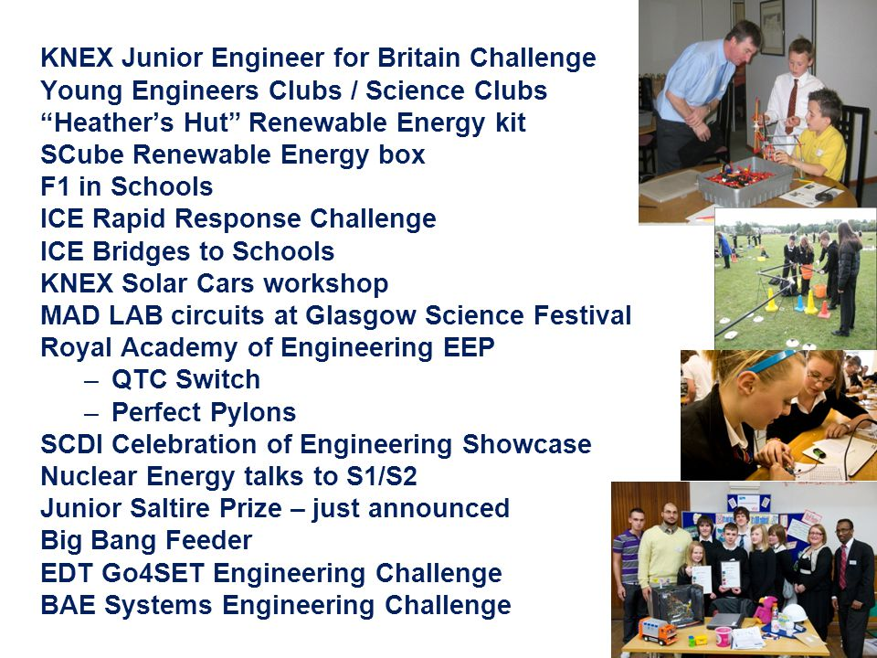 "KNEX Junior Engineer for Britain Challenge Young Engineers Clubs / Science Clubs ""Heather's Hut"" Renewable Energy kit SCube Renewable Energy box F1 in"