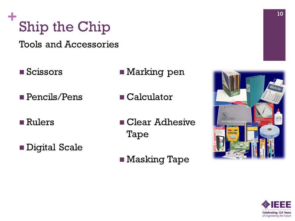 + Ship the Chip Scissors Pencils/Pens Rulers Digital Scale Marking pen Calculator Clear Adhesive Tape Masking Tape 10 Tools and Accessories