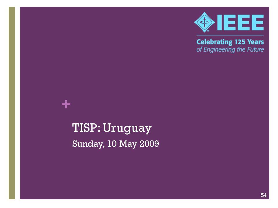 + TISP: Uruguay Sunday, 10 May 2009 54
