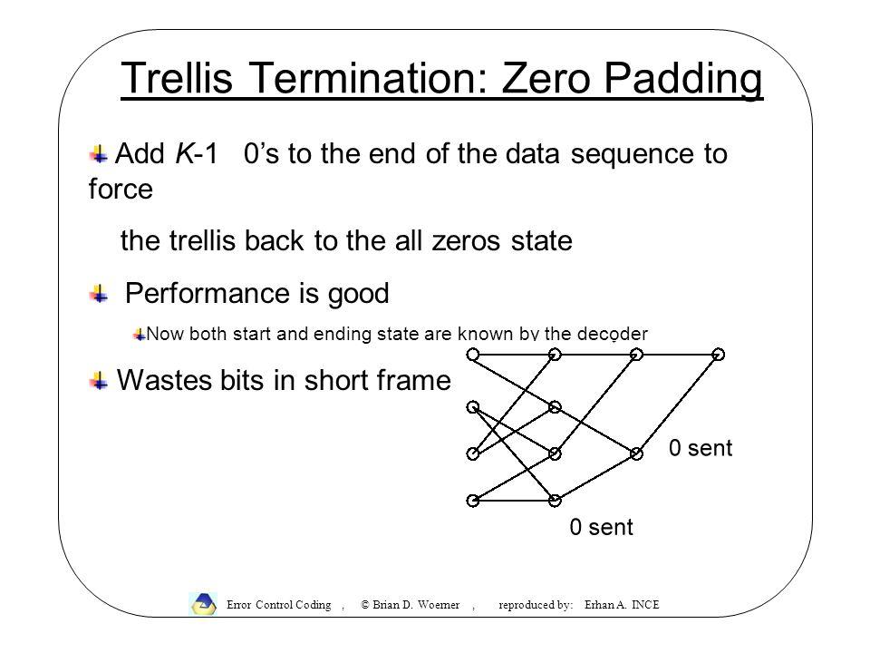 Trellis Termination: Zero Padding Error Control Coding, © Brian D.