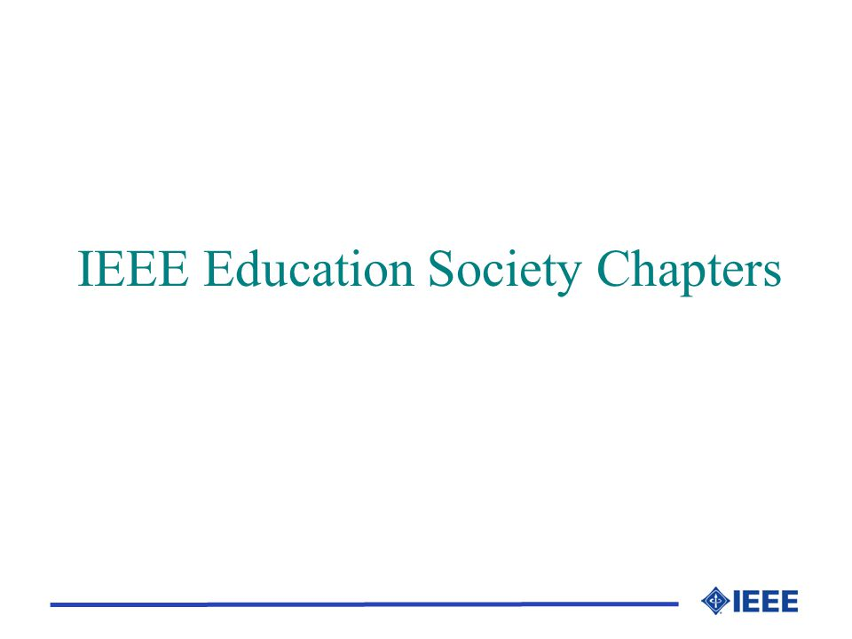 IEEE Education Society Chapters