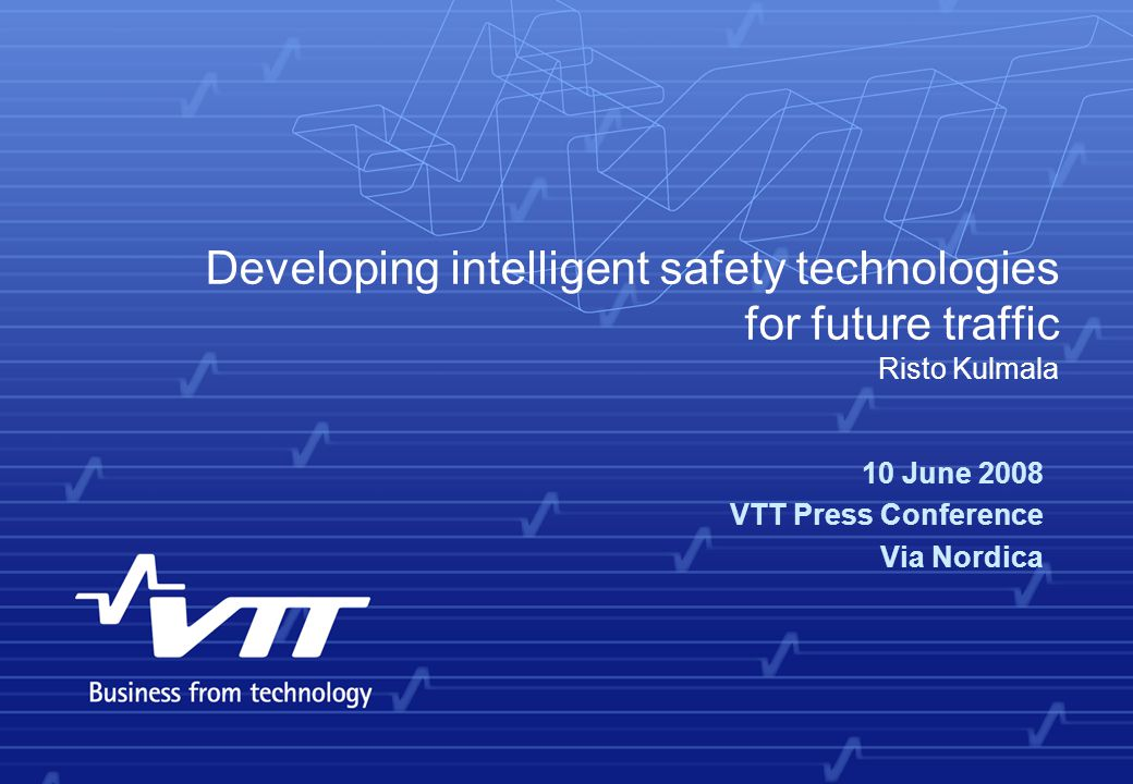 VTT TECHNICAL RESEARCH CENTRE OF FINLAND 2 Contents  eSafety Forum for deployment of Intelligent Vehicle Safety Systems (IVSS)  implementation road maps  effects database  promotion benchmarking  Safety assessment of IVSS  eIMPACT  CODIA  Conclusions