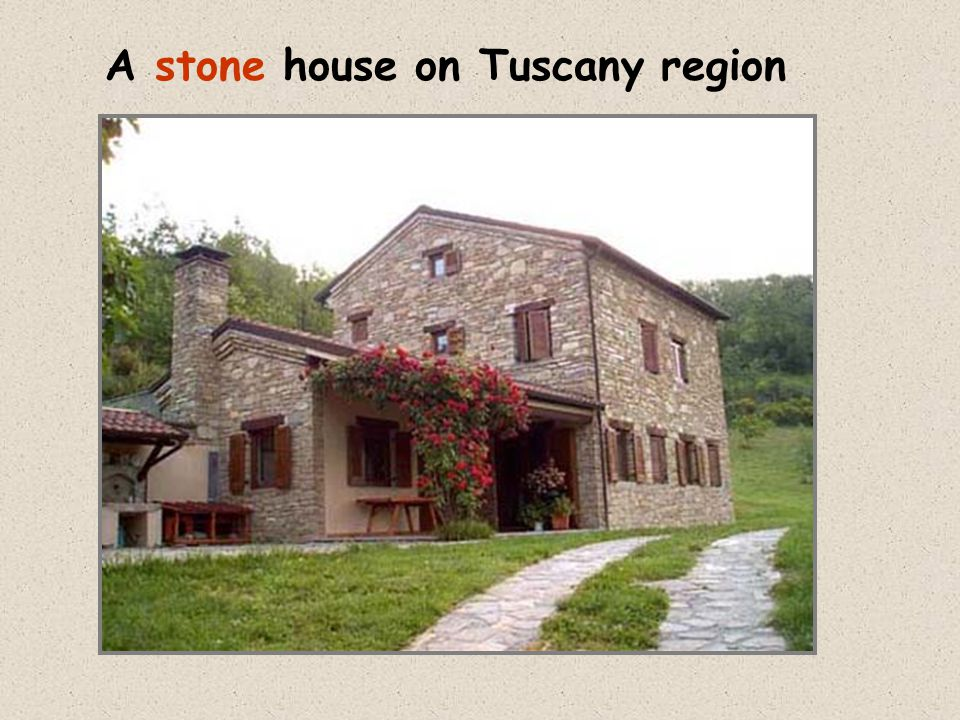 A stone house on Tuscany region