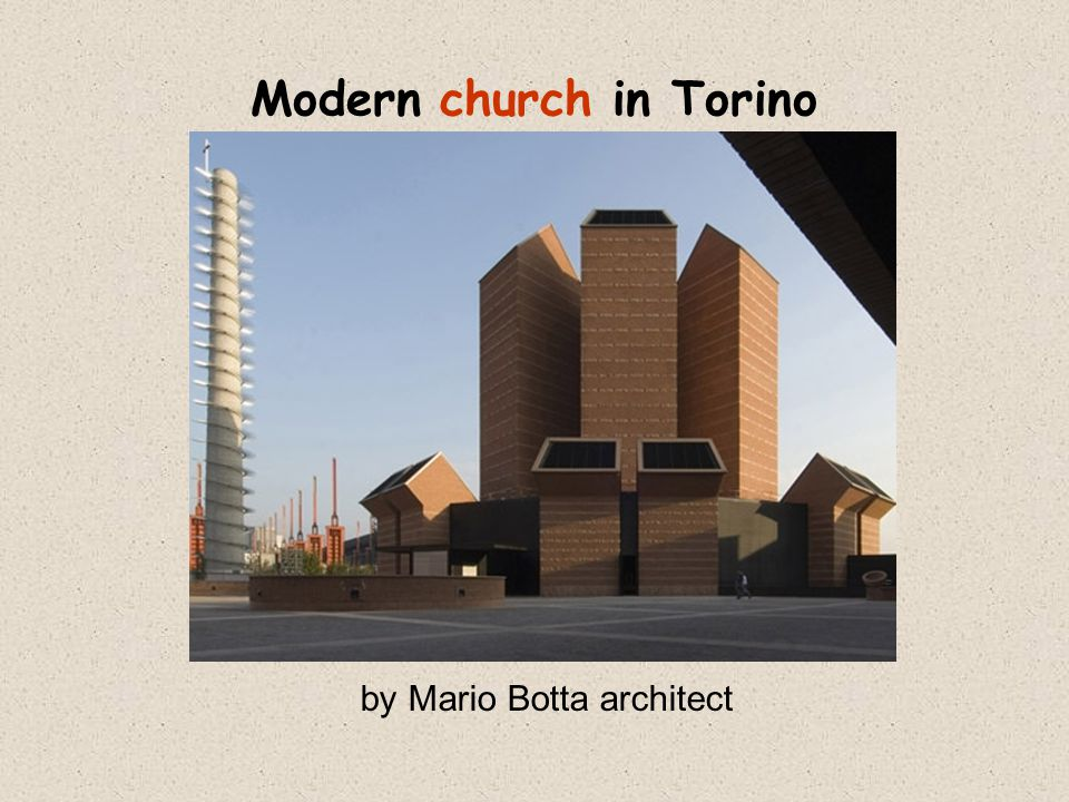 Modern church in Torino by Mario Botta architect