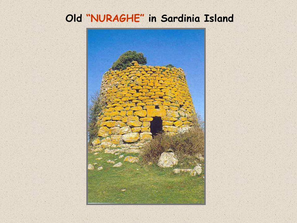 Old NURAGHE in Sardinia Island