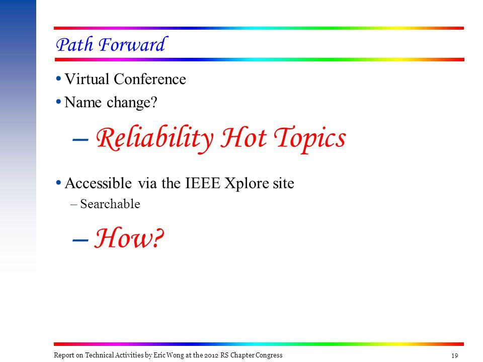19 Path Forward  Virtual Conference  Name change.