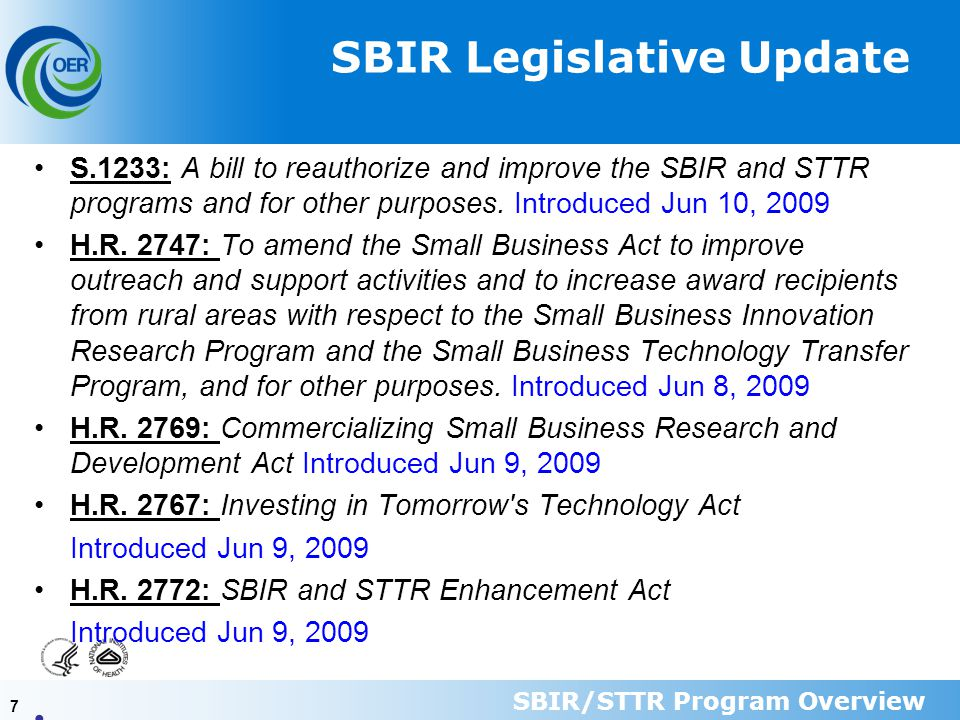 88 STTR Purpose and Goals Small Business Research and Development Enhancement Act of 1992 P.L.