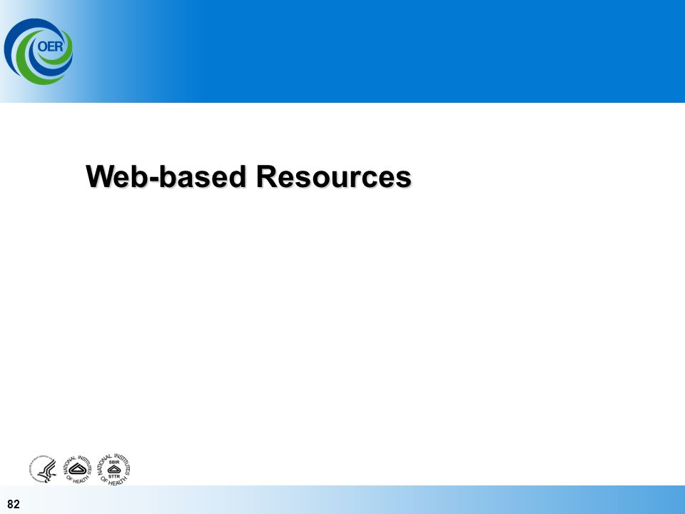82 Web-based Resources