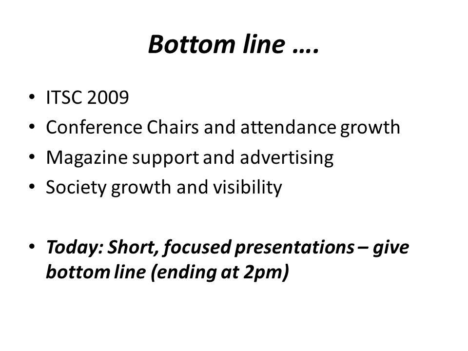 Bottom line ….