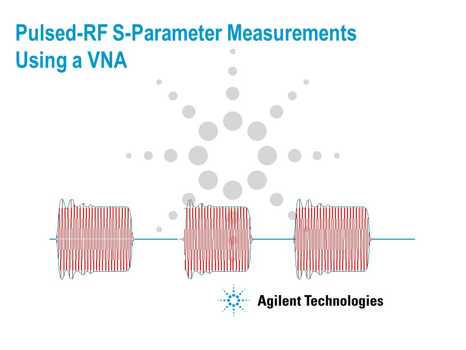 Pulsed-RF S-Parameter Measurements Using a VNA