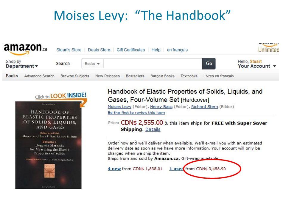 Moises Levy: The Handbook