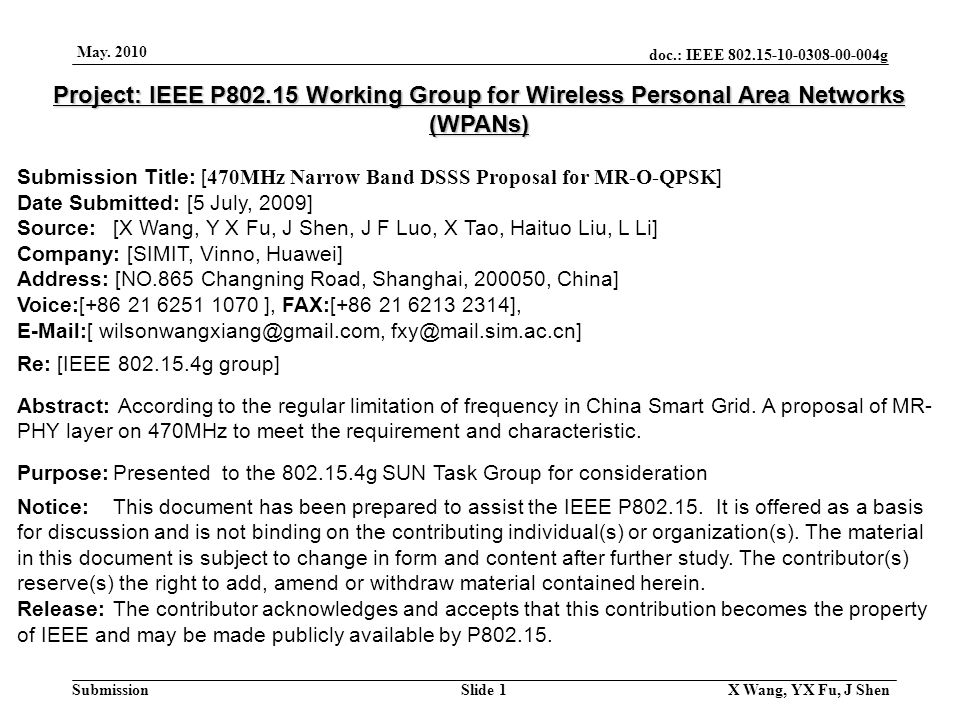doc.: IEEE 802.15-10-0308-00-004g Submission May.