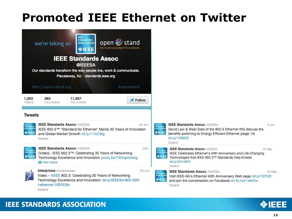 Promoted IEEE Ethernet on Twitter 16