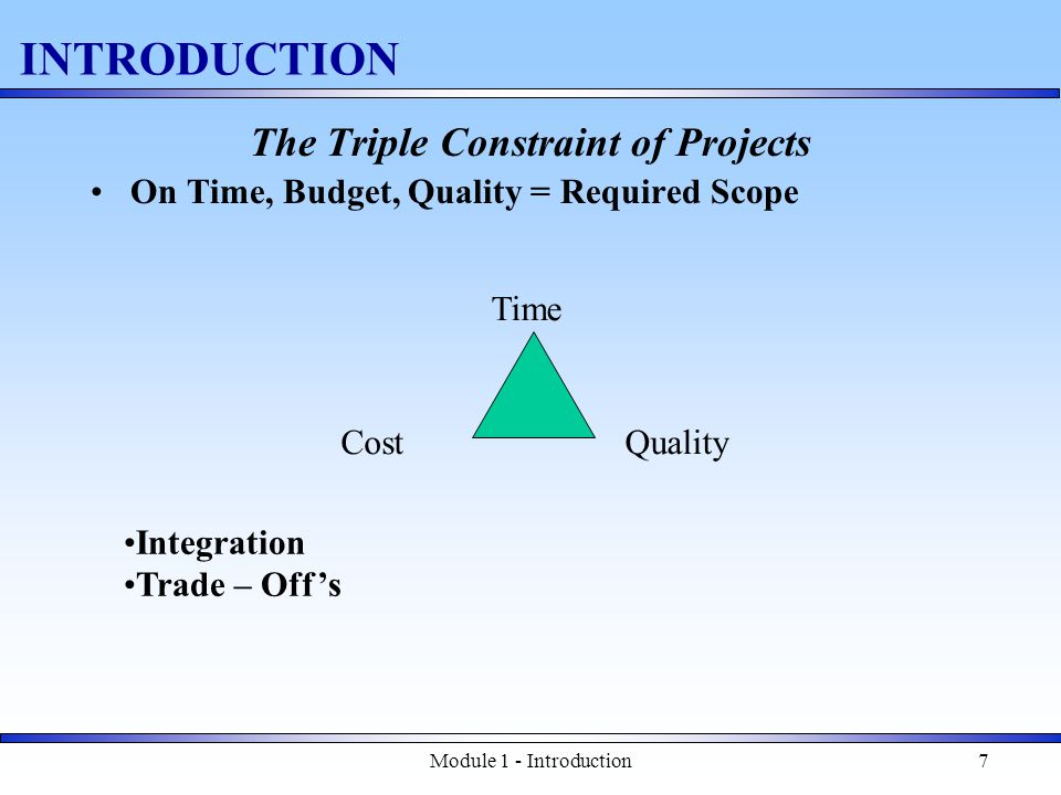 Module 1 - Introduction58 Final Details Can you be a good project manager.