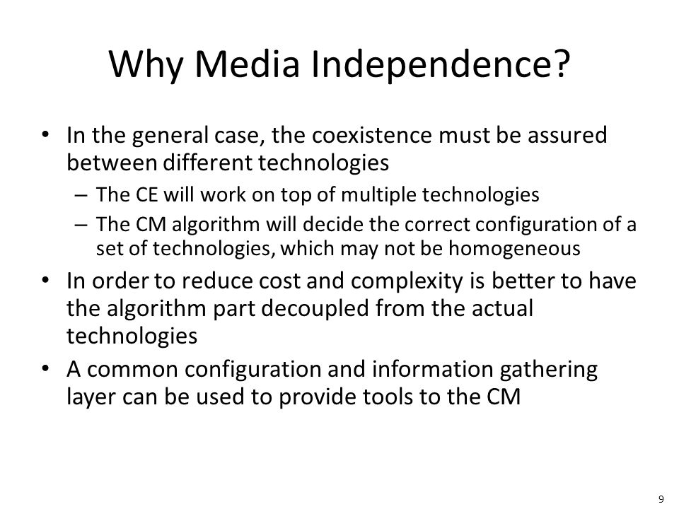 9 Why Media Independence.