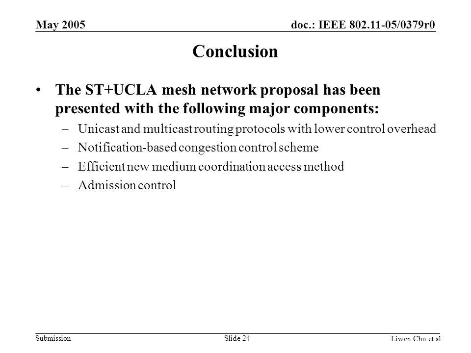 doc.: IEEE 802.11-05/0379r0 Submission Liwen Chu et al.