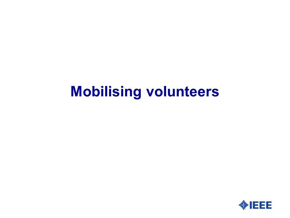 Mobilising volunteers