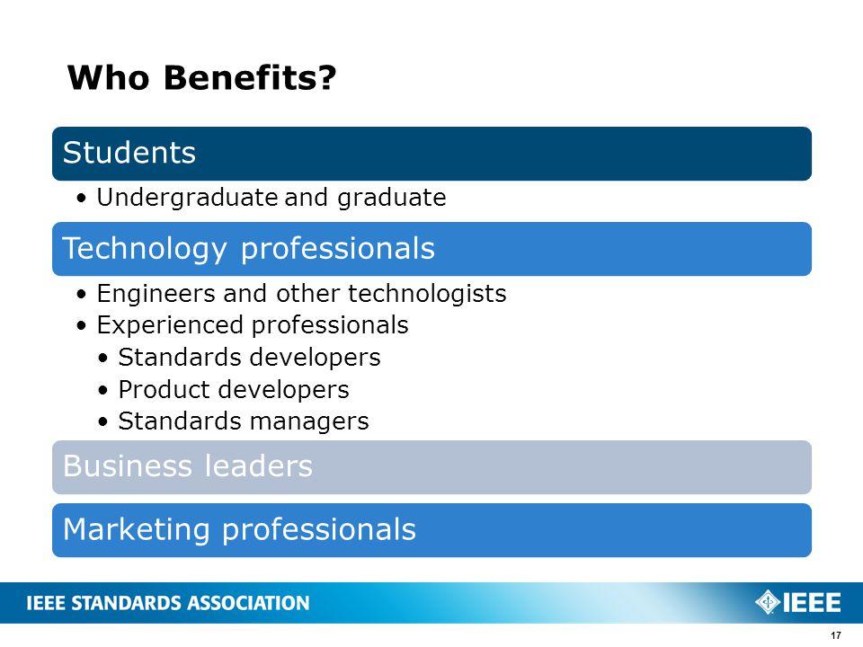 Who Benefits? 17