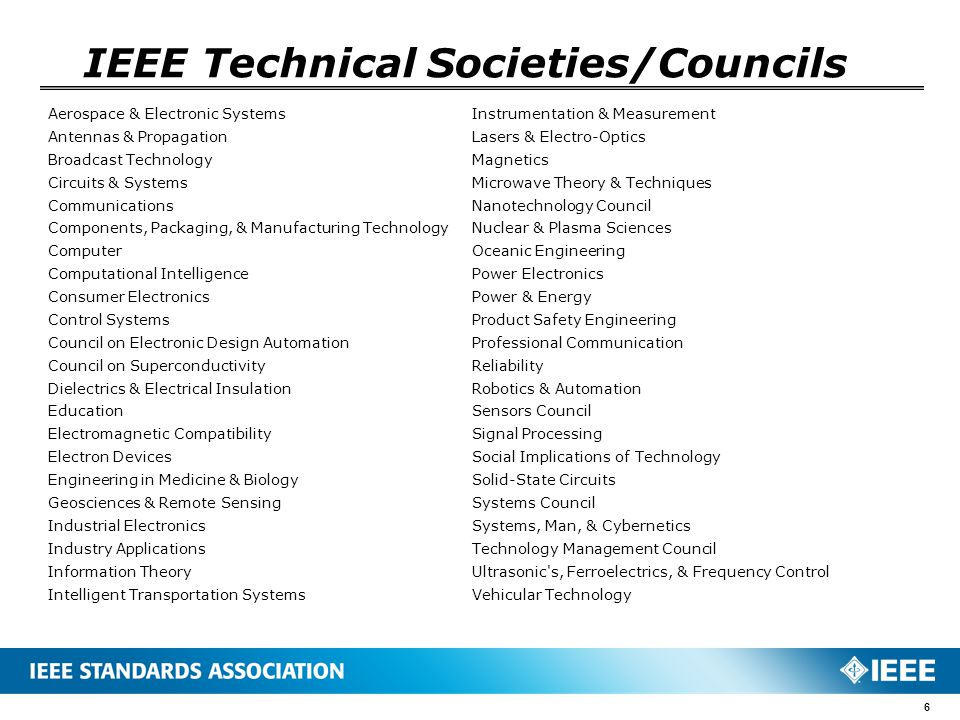 IEEE Technical Societies/Councils Aerospace & Electronic Systems Antennas & Propagation Broadcast Technology Circuits & Systems Communications Compone
