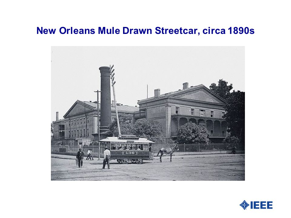 New Orleans Mule Drawn Streetcar, circa 1890s