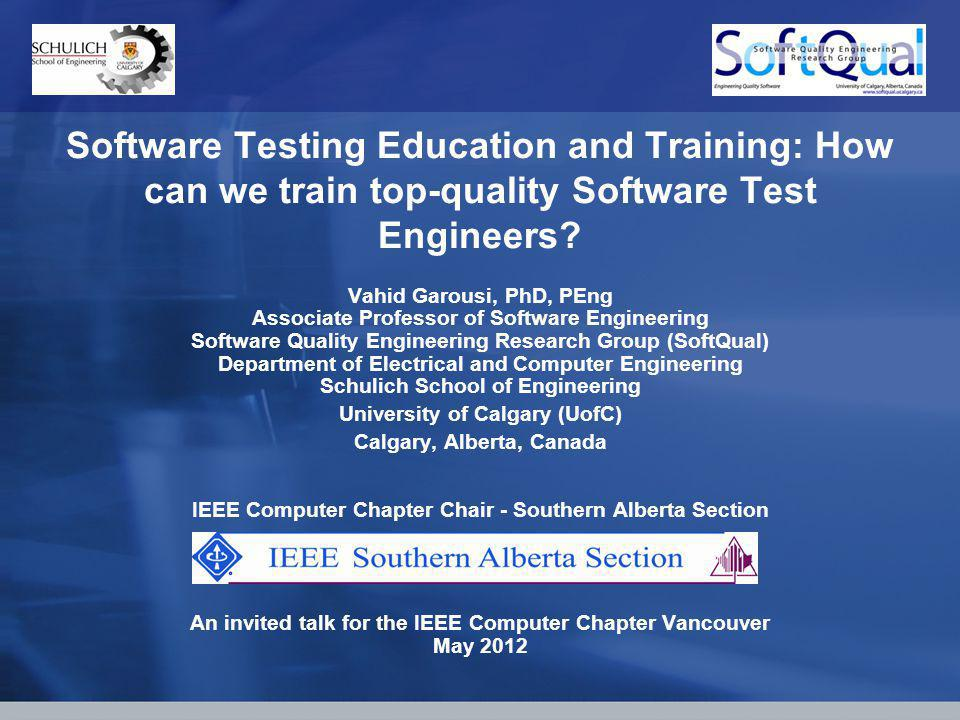 Software Testing Education and Training: How can we train top-quality Software Test Engineers.